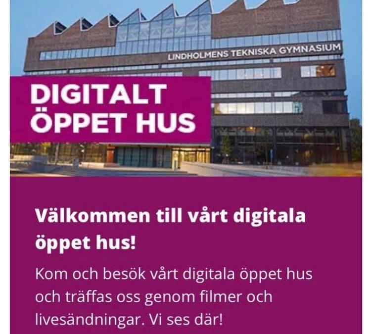 Lindholmens tekniska gymnasiums digitala öppna hus